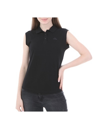 Robe di Kappa Rdk Kadın Kolsu Polo T-Shirt Wws  Siyah